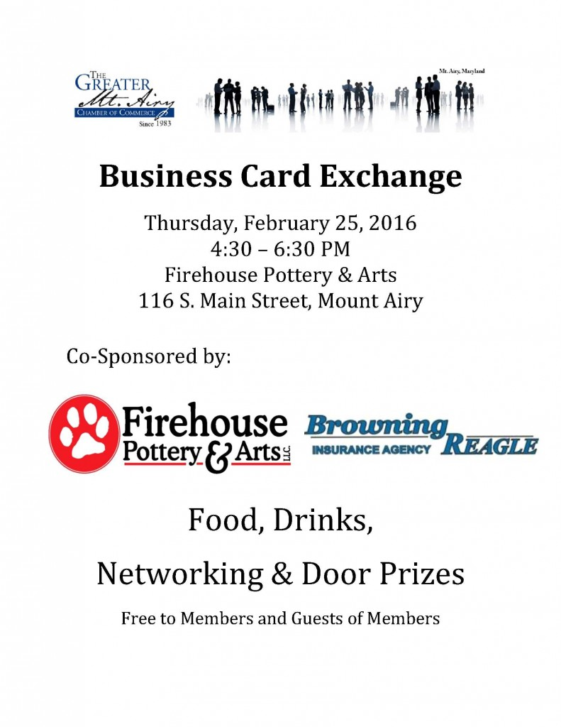 Business Card Exchange @ Firehouse Pottery & Arts | Mount Airy | Maryland | United States
